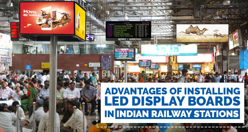 LED Display Boards in Indian Railway Stations