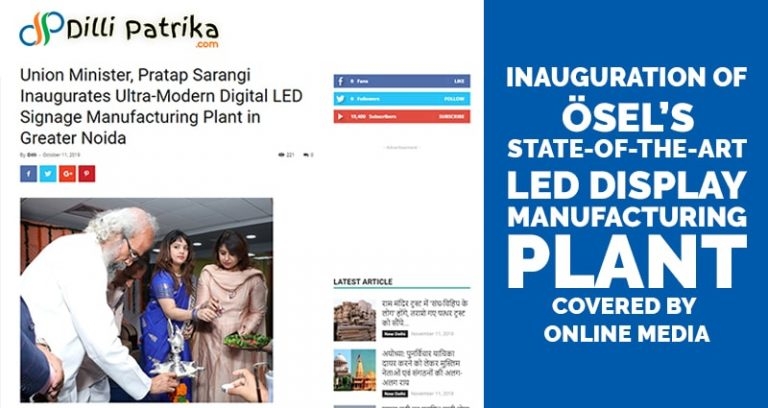 LED Display Manufacturing Plant Covered by Online Media